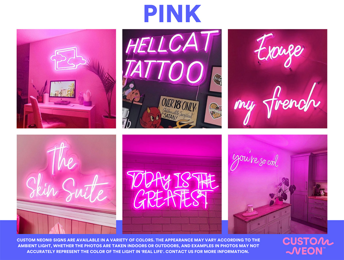 Custom Neon Baby Name Signs Personalized Signs For Kids Rooms