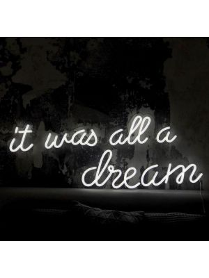 It Was All a Dream Aesthetic Neon Light Quotes - photo from CustomNeon.com