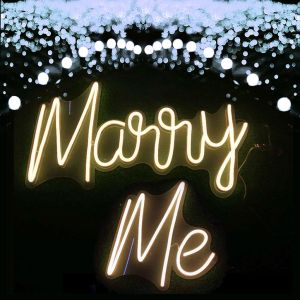 Marry Me Wedding Sign - photo CustomNeon.com