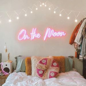 * On the Moon * Neon Signs for Bedroom LED Neon Light Decor from CustomNeon.com