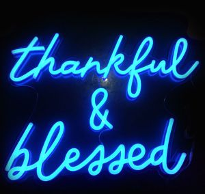 Thankful & Blessed LED Neon Light Signs