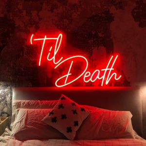 Til Death Red Neon Light Wall Art - photo from CustomNeon.com