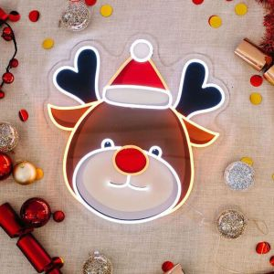 UV printed LED reindeer Xmas light up decoration from CustomNeon.com