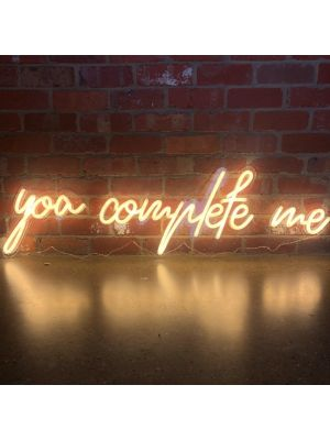 Aesthetic neon sign * You Complete Me * LED neon word light - photo from CustomNeon.com