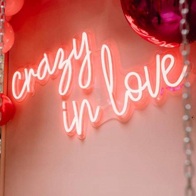 Crazy in Love Cursive LED Neon Sign