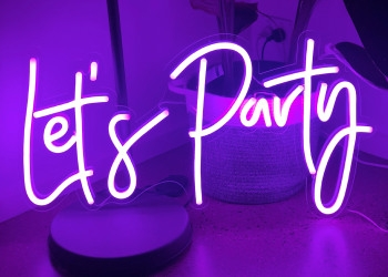 Neon flex lighted sign Let's Party